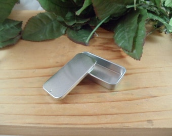 10 ea Sliding Lid Metal Lip Balm Containers