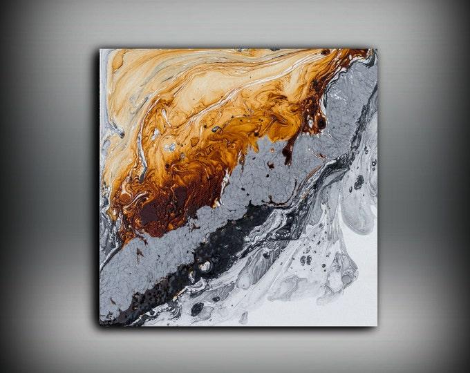 Canvas Print, Wall Art Print, Small Art Print, Contemporary Print, Copper Art Decor, Wall Hanging,Great Gift Canvas Wall Art, Fine Art Print