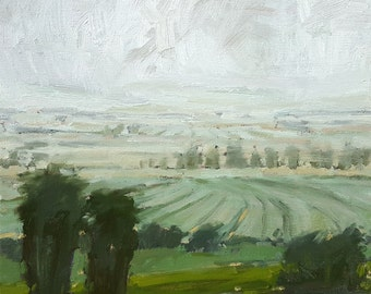 Layers In Lodi   Oil Painting Original Painting Landscape Painting   12 x 12