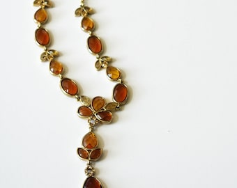 Vintage Necklace, Amber Necklace, Jewelry Making, Pendant, Mosaic Supplies