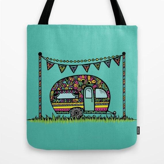 Zentangle - Little Camper Tote Bag