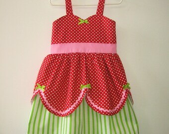 Strawberry Shortcake dress retro STORYBOOK dress great for a special occasion halloween costume  or birthday party