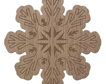 GOSHENITE - CRYSTALS - laser cut wood - brooch