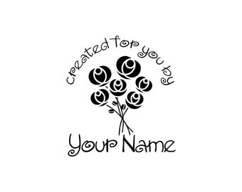 Personalized Custom Made Name Unmounted Rubber Stamps C08