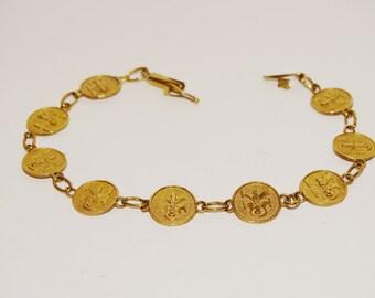 "Vintage 10k Calvin Klein 7"" Bracelet."