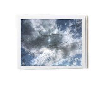 Oily Sky & Clouds Notecard