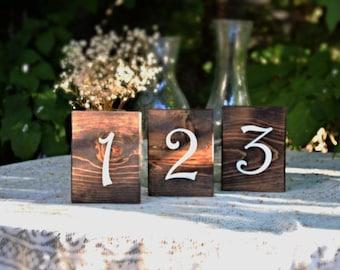 Set of 30 Rustic Wedding Table Numbers, Block Table Numbers, Rustic Wedding Decor, Spring Wedding, Summer Wedding, Wedding Tables