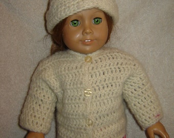 Handmade Sweater Set Fits American Girl and Other 18 inch Dolls