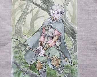 In the Swamp - Original Art Watercolor Sketch of Comic Illustration