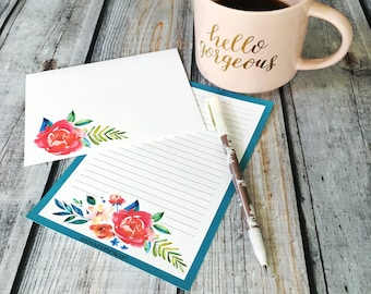 Stationery Set - bella bouquet - letter writing set
