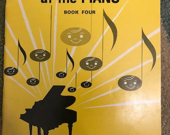 Vintage 1963 Making Music at the Piano Book Four by John W. Schaum Sheet Music Booklet Lessons