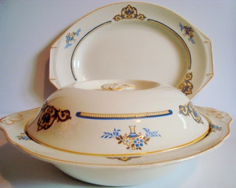 J & G Meakin tray and serving dish with lid