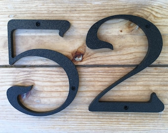 5 inch Iris House Numbers Letters