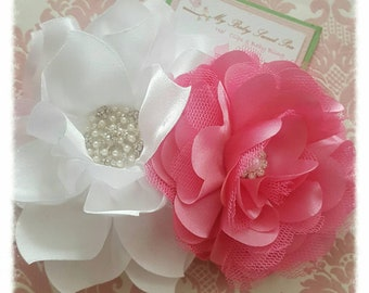 Girl hair clips, girl headbands, flower hair clips, flower barrettes, flower headbands