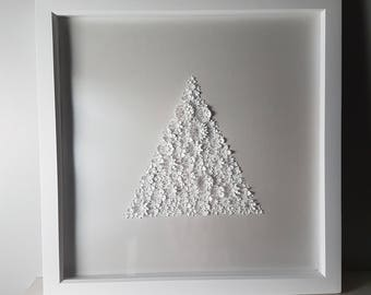 Large Triangular 3D paper flowers
