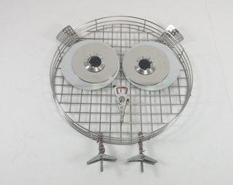 Metal owl wall decor hand made cute owl decor