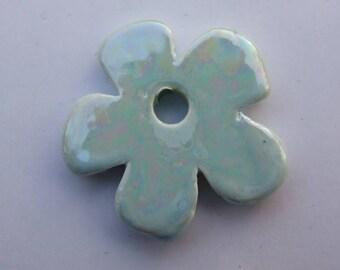 FLOWER CERAMIC BLUE 24MM