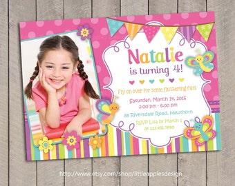 Butterfly Invitation / Butterfly Birthday Invitation / Butterfly Invite / Butterfly Invitation Printable / Purple Butterfly Invitation