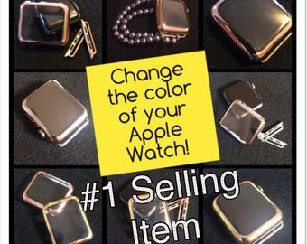 """Apple Watch Band 38mm 42mm COVER CASE Women Bracelet iWatch Bands """"CHOICE Gold, Rose Gold, Silver, Black"""" Adapters Womens 38 42 TimeKitSUSA"""