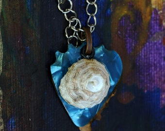 Guitar Pick Necklace - Seashell