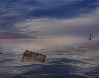 Buy 3 get one free. Lost at Sea, Digital Backdrop, High Resolution, Instant Download.