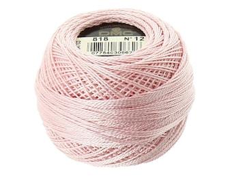 DMC 818 Perle Cotton Thread | Size 12 | Baby Pink