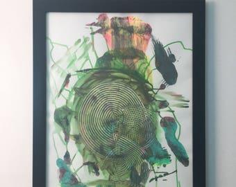 "Abstract acrylic original painting #6 (18x24"")"