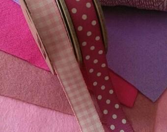 Pink felt & ribbon bundle