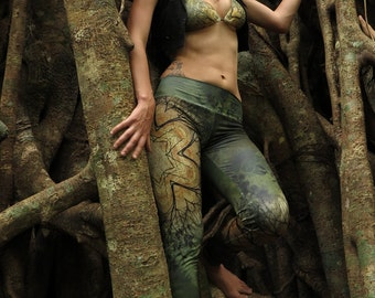 SPRING STAR Leggings / Mandala leggings / Fractal leggings / Goddess / yoga leggings / sacred geometry leggings / Metatrons cube