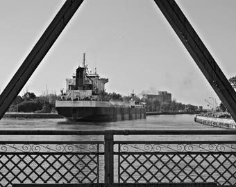 Port Colborne Photos, Nautical, Industrial, Loft Art, Welland Canal Photos, Laker Photos, Boat Nerds, Great Lakes Shipping, Black and White