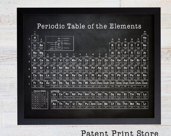 Periodic table etsy periodic table of elements science wall art science poster chemistry poster science urtaz Image collections