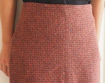 Red wool skirt