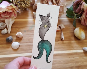 Merkitty Watercolor Bookmark