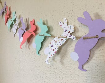 Easter Bunny Banner - Easter Bunnies - Easter Banner - Easter Garland - Easter Bunny Garland