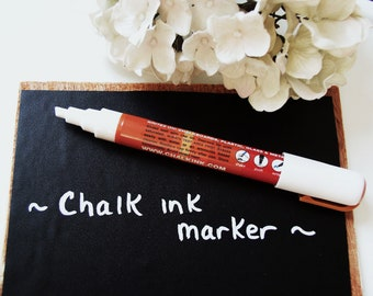 Chalk Ink Marker Pen for Chalkboard - White Chalk Pen for Blackboard - Wet Erase 6mm Chisel Tip