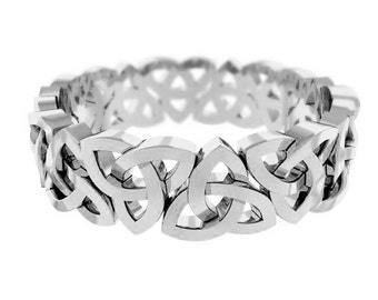 Celtic Wedding Ring Trinity Knot Sterling Silver