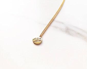 Small 'Gemini' Zodiac Charm Necklace