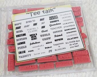 DESTASH - utilisé Gina K Stamp Set - Tee parler