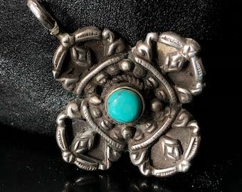 sterling mandala pendant