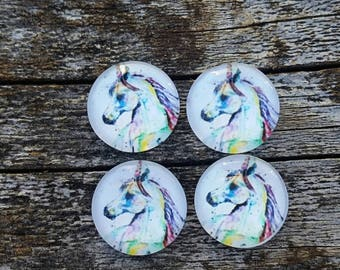 12mm Horse Glass Cabochon