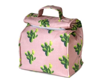 Insulated lunch bag with handle - Opuntia