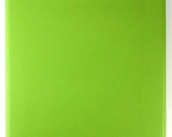 Panels wall art 30 x 30 Green leatherette