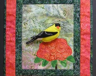 3-D American Goldfinch Art Quilt Pattern