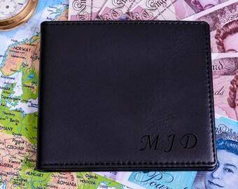 Mens Initials Personalised Wallet