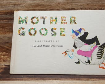 Mother Goose, 1948, Alice and Martin Provensen, READ DESCRIPTIONS,  vintage kids book