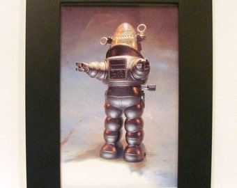 """Framed Robby the Robot Windup Toy Photograph 4x6"""""""