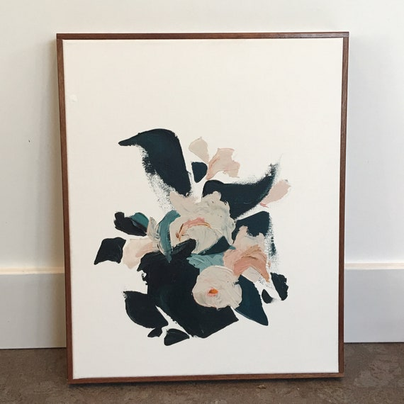 Botanical Series #6 Abstract - Original framed painting