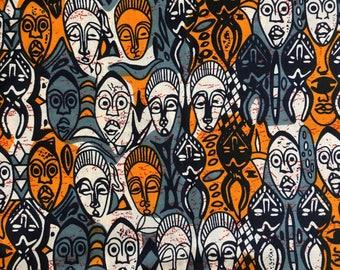 African Dutch Wax- Faces