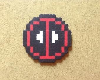 Deadpool coaster (small) - Perler