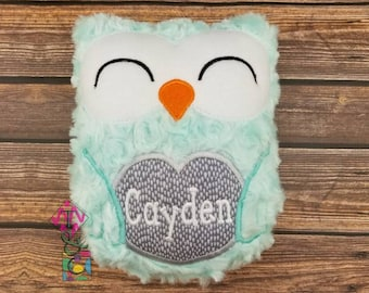 Personalized Owl Stuffed Animal - Baby Gift - Personalized Owl -  Owl with Name - Soft Owl - Plush Owl - Mint Owl - Stuffie - Baby Shower